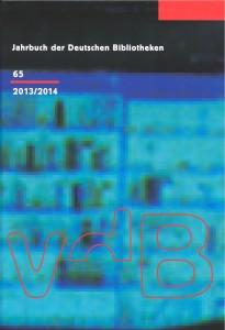 Jahrbuch der Deutschen Bibliotheken 65 (2013/2014)