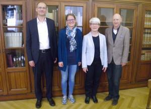 Der neue Vorstand des VDB-Regionalverbands Südwest: Robert Scheuble, Maria Gramlich, Imma Hinrichs, Carlheinz Straub